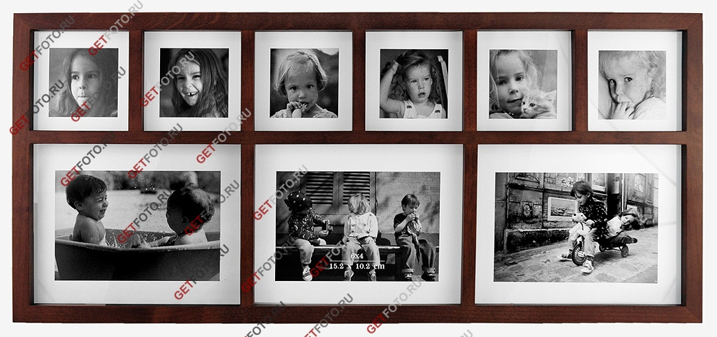 фоторамки настенные на несколько фотографий